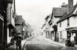Reproduction Vintage c1866 Postcard, Tilehouse Street, Hitchin, Hertfordshire 2U