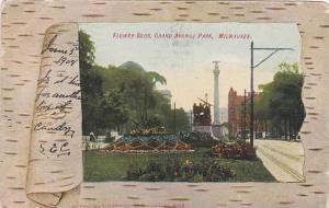 Wisconsin Milwaukee Flower Beds Grand Avenue Park 1908