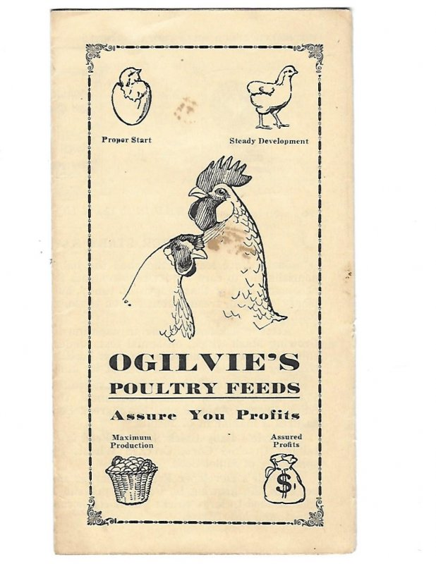 Pamphlet for Ogilvie's Poultry Feeds Assure Your Profits Chickens Canada
