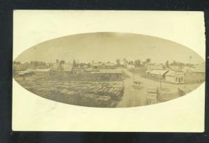 RPPC STOVER MISSOURI BIRDSEYE VIEW DOANE CANCEL MO. REAL PHOTO POSTCARD 1909