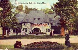 POLICE STATION BELLE ISLE, DETROIT, MI 1910