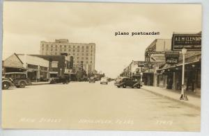 HARLINGEN, TEXAS MAIN STREET RPPC REAL PHOTO POSTCARD