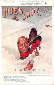 Advertising Postcard - Old Vintage Antique  Hoe's Sauce
