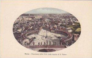Italy Roma Rome Panorama della Citta dalla cupola di S Pietro