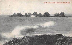 LPS63 Kennebunk Beach Maine Lords Point Surf Vintage Postcard