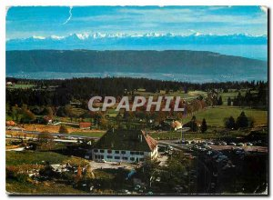 Postcard Modern Lights and colors of the Jura Hotel and Neuchateloise Pass of...
