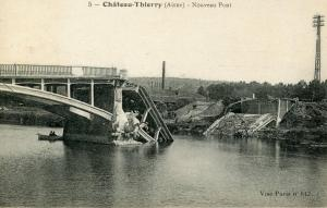 France - Chateau-Thierry (Aisne) New Bridge Collapsed