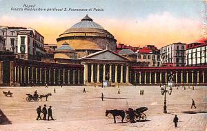 Italy Old Vintage Antique Post Card Piazza pPlebiscito e Porticati S Francesc...