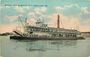 Steamship, MO, Kansas City, Missouri, Excursion Boat, Max Bernstein, No. 20739