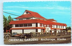 *Oriental Gardens Restaurant Anchorage Alaska Mile 7 old Seward Hwy Postcard B77