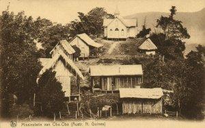PC CPA PAPUA NEW GUINEA, MISSIESTATIE CAN OBA-OBA, Vintage Postcard (b19773)