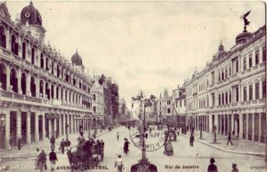 RIO DE JANEIRO BRAZIL AVENIDA CENTRAL 1909