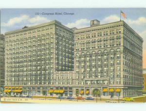 Unused Linen CONGRESS HOTEL Chicago Illinois IL hr7376-12