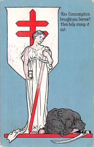 International Tuberculosis Exhibition Advertising 1909 light postal marking o...