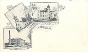 Beaver Dam WI~High School~First Methodist Church~Cotton Mills~1906 Art Nouveau