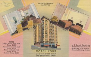 SAN FRANCISCO ,California, 1930-40s ; Hotel York