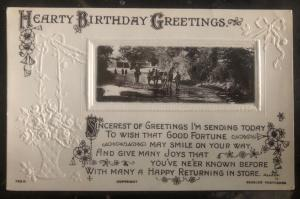 Mint Australia Picture Postcard PPC Hearty Birthday Greetings