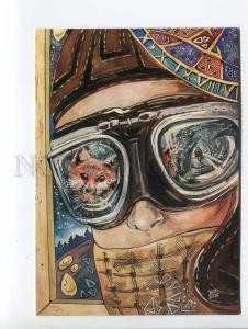 271643 RUSSIA Natalia Talagaeva fox pilot little prince Saint-Exupery postcard