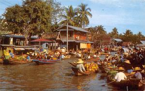 Bangkok Thailand Scenery of the Floating Market Bangkok Scenery of the Floati...
