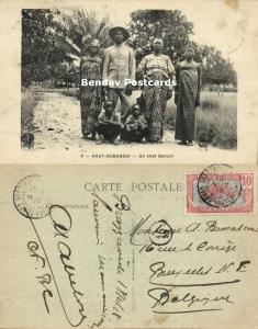 French Congo, Haut-Oubangui, Gbanziri Banziri Chief Raymond Sokambi (?) (1918)