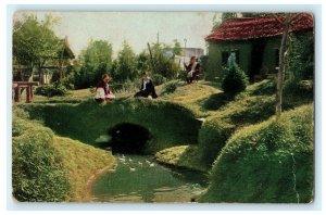 Exposition Park Los Angeles California Landscape Feature 1928 Vintage Postcard