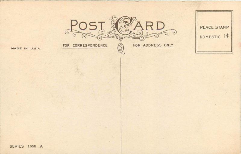 My Valentine Valentine's Day Series 1658 A Postcard
