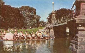 The Swan Boats in Boston Garden old unused Postcard