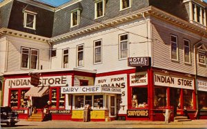 Maine Greenville Moosehead Lake The Indian Store 1968