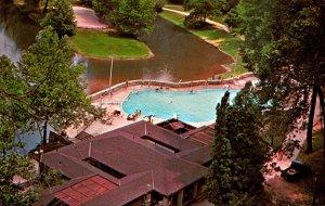 Kentucky Slade Pool and Bathhouse From Hemlock Lodge Natural Bridge State Park