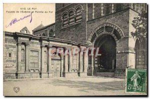 Old Postcard Le Puy Facade de l'Eveche and the For Porch