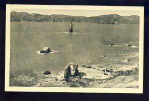 San Francisco, California/CA Postcard, Lighthouse At The Golden Gate Bridge