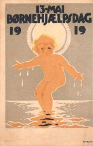 Bornehjaelpsdag 1919 Childrens Day Advertising Art Antique Postcard J74082