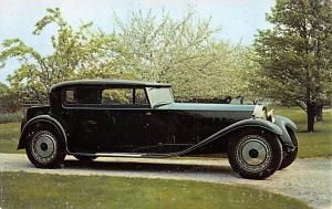 Post Card Old Vintage Antique 1928 Bugatti Royal Coupe Unused