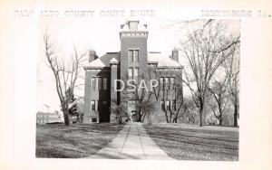 Iowa Ia Postcard Real Photo RPPC c1950 EMMETSBURG Palo Alto County Court House
