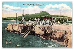 Piscadera Beach, Playa de Piscadera Curacao N.W.I. Netherlands Antilles Postcard
