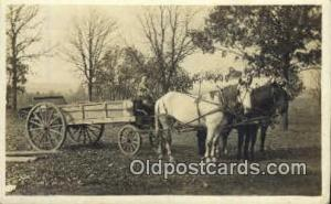 Manure Spreader Horse Drawn Real Photo Postcard Postcards  Manure Spreader
