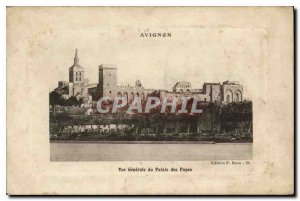 Old Postcard Avignon General view of the palace of the popes