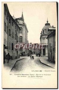 Old Postcard Lons le Saulnier Bank Rue de la Prefecture Archives Caisse d & #...