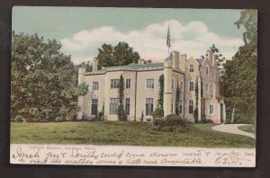 Oakland Mansion, Gardiner, Maine - Used 1907 Nice Stamp On Back