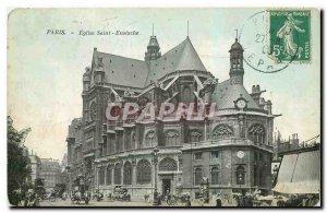 Old Postcard Paris Saint Eustache Church