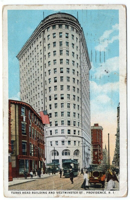 Providence, R.I., Turks Head building And Westminster St.