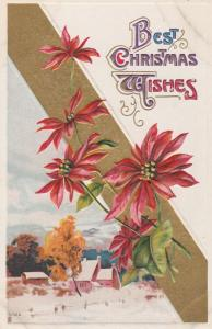Best Christmas Wishes Greetings - Henderson Lithograph - DB
