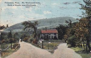 Mt. Wachusett From Fork Of Roads, Near Fitchburg, PRINCETON, Massachusetts, P...