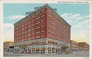 Iowa Waterloo Hotel Russell-Lamson Curteich