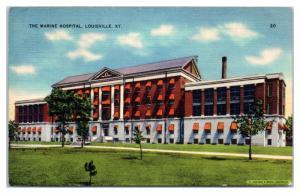 1939 The Marine Hospital, Louisville, KY Postcard