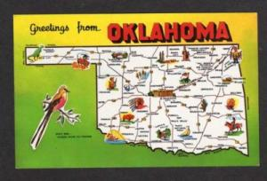 OK Greetings from OKLAHOMA State Map Buffalo Mangum PC