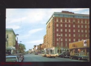 MARSHALLTOWN IOWA DOWNTOWN MAIN STREET SCENE 1960's CARS VINTAGE POSTCARD