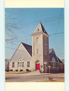 Unused 1950's CHURCH SCENE Pocomoke City Maryland MD p3810-14