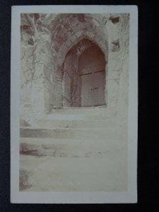 Isle of Man ENTRANCE TO PEEL CASTLE c1911 RP Postcard