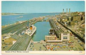 Ulster Queen - Estuary of River Mersey - Post Card - Unused